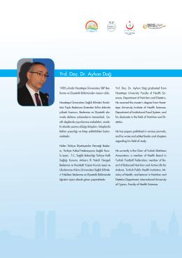 Yrd. Doç. Dr. Ayhan Dağ - İstanbul Sağlık ve Beslenme Bienali