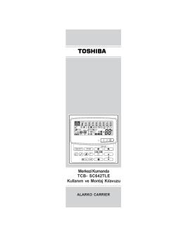 Toshiba - Merkezi Kumanda TCB-SC642TLE