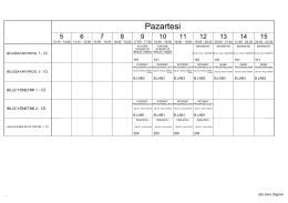 İkinci Öğretim Ders Programı - Pınarhisar Meslek Yüksekokulu