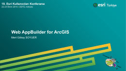 Web AppBuilder for ArcGIS