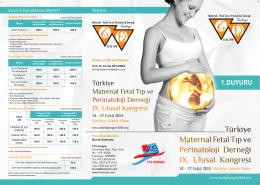 1.DUYURU - Türkiye Maternal Fetal Tıp ve Perinatoloji Derneği 9