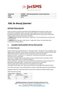 XML Yardım Dosyası