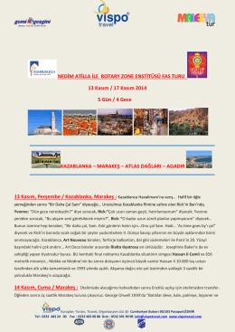 13-17 Kasım Marakeş Zon 20B Enstitüsü Tur Programı-rev1