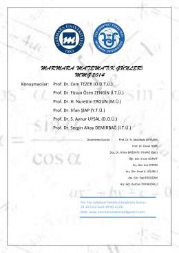 Konuşmacılar: Prof. Dr. Cem TEZER (O.D.T.Ü.) Prof. Dr. Füsun Özen