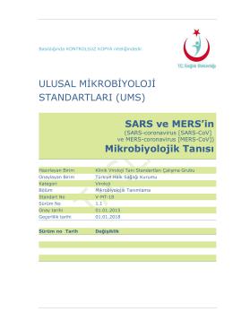 SARS - Türkiye Halk Sağlığı Kurumu