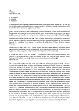 2014 Ağustos Ayı Yargıtay Ceza Genel Kurul ve Ceza Daireleri