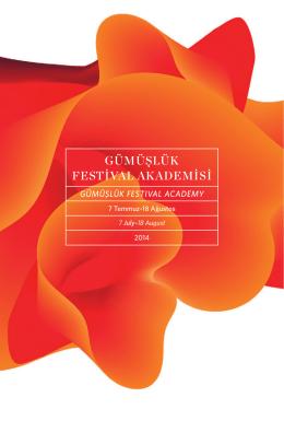 2014 masterclass brochure - Uluslararası Gümüşlük Klasik Müzik