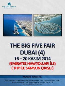 The Big Five Dubai (16-20 Kasım 2014) Samsun Çıkışlı (Duyuru)