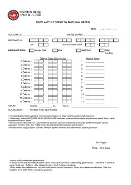 mail order düzenli ödeme formu