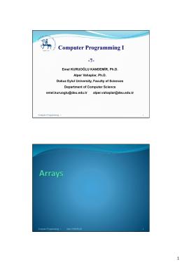Computer Programming – 1