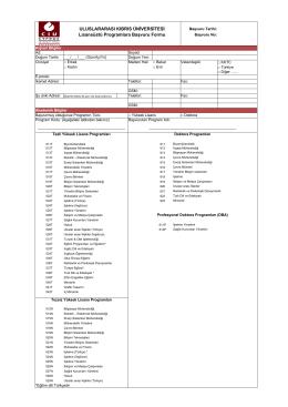 ULUSLARARASI KIBRIS ÜNİVERSİTESİ Lisansüstü Programlara