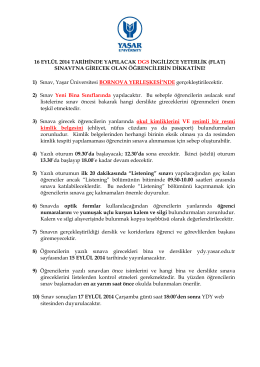 16 eylül 2014 tarihinde yapılacak dgs ingilizce yeterlik (flat)