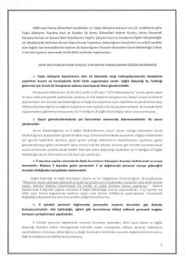 Nisan 2014 KİK Kararları - Ankara İl Sağlık Müdürlüğü