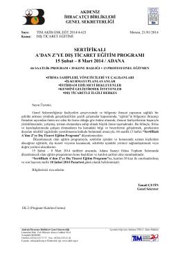 Turkçe Antetli Kağıt - Akdeniz İhracatçı Birlikleri