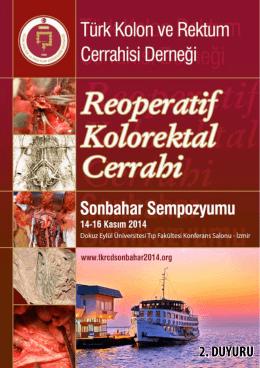 2. DUYURU - Türk Kolon ve Rektum Cerrahisi Derneği