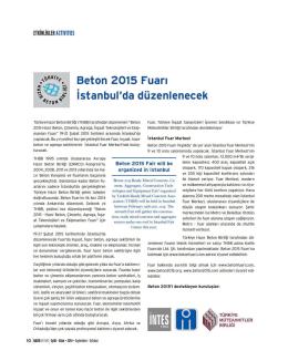 Etkinlikler - Türkiye Hazır Beton Birliği