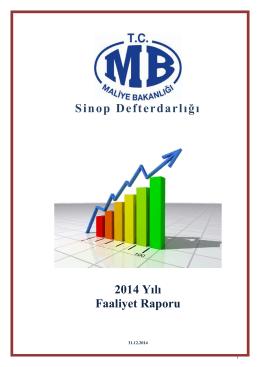 2014 Yılı I. Dönem İdari Faaliyet Raporu