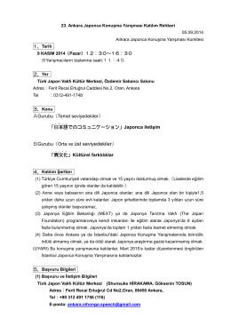 23. Ankara Japonca Konuşma Yarışması Katılım Rehberi