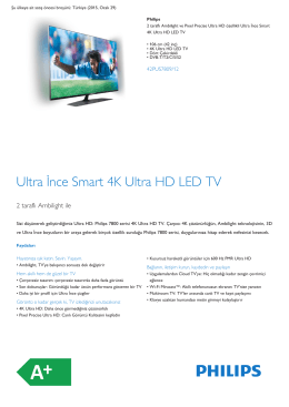 Product Leaflet: 106 cm (42 inç) Ultra İnce Smart 4K