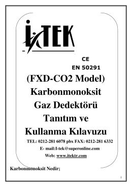 (FXD-CO2 Model) Karbonmonoksit Gaz Dedektörü Tanıtım ve