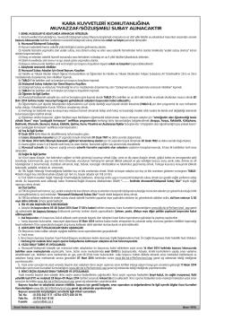 kara kuvvetleri komutanlığına muvazzaf/sözleşmeli subay alınacaktır