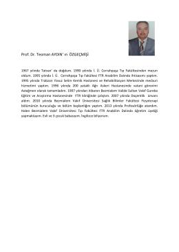 Prof.Dr.Teoman Aydın