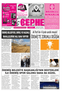 27.11.2014 Tarihli Cephe Gazetesi