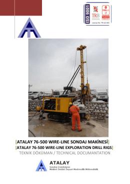 ATALAY 76-500 wıre-lıne exploratıon drıll rıg