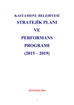 kastamonu belediyesi stratejik planı