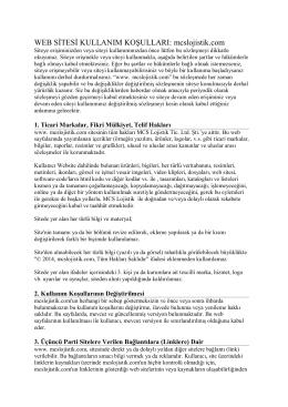 WEB SİTESİ KULLANIM KOŞULLARI: mcslojistik.com