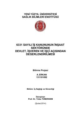 kapak + içindekiler - İstanbul Yeni Yüzyıl Üniversitesi