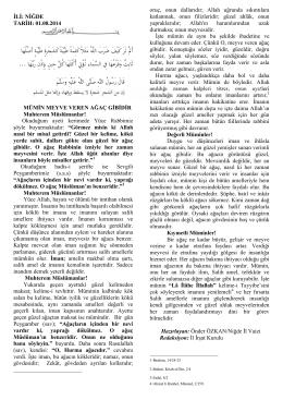 01.08.2014 Tarihli Hutbe Metni Sitemize