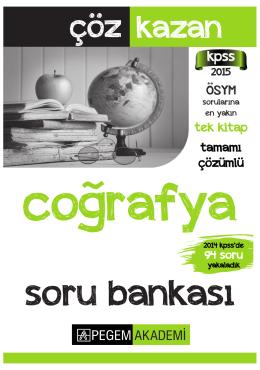 KPSS Genel Kültür Coğrafya Tamamı Çözümlü Soru