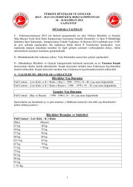 Müsabaka Talimatını PDF Olarak İndirmek İçin Tıklayınız