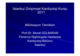 İstanbul Girişimsel Kardiyoloji Kursu 2011