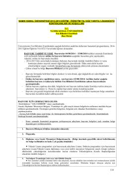 namık kemal üniversitesi 2014