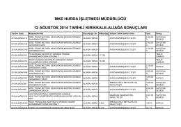 12 ağustos 2014 tarihli kırıkkale
