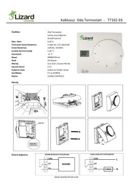 Termostat Katalogları.xlsx - Otomasyon Kontrol Market