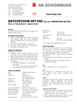 BAYCOFLOOR-EP1240 (Eski adı: INDUFLOOR - ab