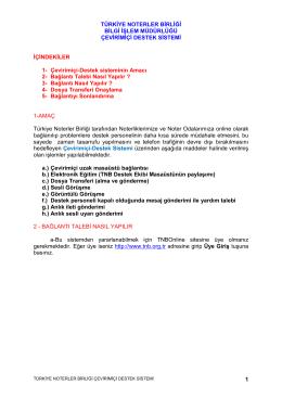 TNB NTR Hizmetleri - Türkiye Noterler Birliği