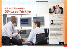 Açık erişim: Dünya ve Türkiye