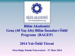 2014-2015 Araştırma Programı