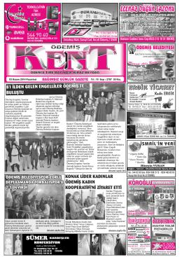 03-11-2014 Tarihli Kent Gazetesi