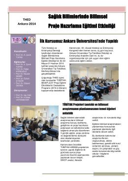 Sağlık Bilimlerinde Bilimsel Proje Hazırlama Eğitimi Etkinliği