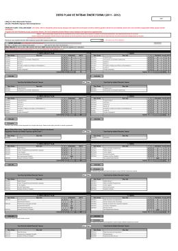 ders planı ve intibak öneri formu (2011