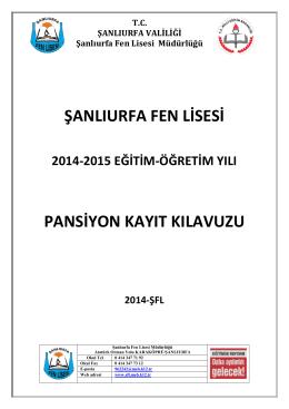 pansiyona kayıt - Milli Eğitim Bakanlığı