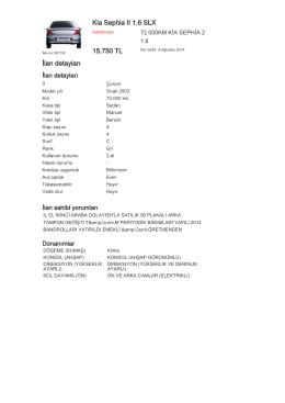 Kia Sephia II 1.6 SLX 15.750 TL İlan detayları