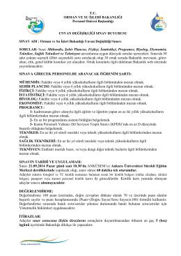 Sakarya Üniversitesi Ünvan Değişikliği Sınavı Başvuru Formu