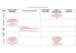 bilimsel takvim - Endouroloji Derneği
