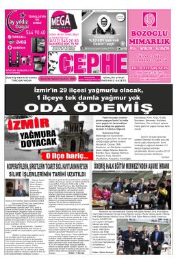 8.11.2014 Tarihli Cephe Gazetesi